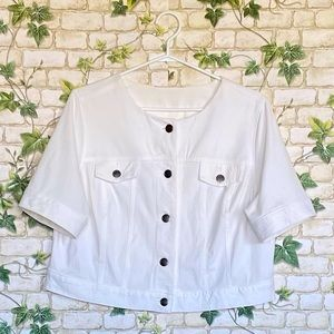 ‼️2 for $12 ‼️ Cropped Jacket Short Sleeves